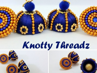 | DIY | How to make Silk Thread Jhumkas with Quilled Studs at Home | Tutorial |