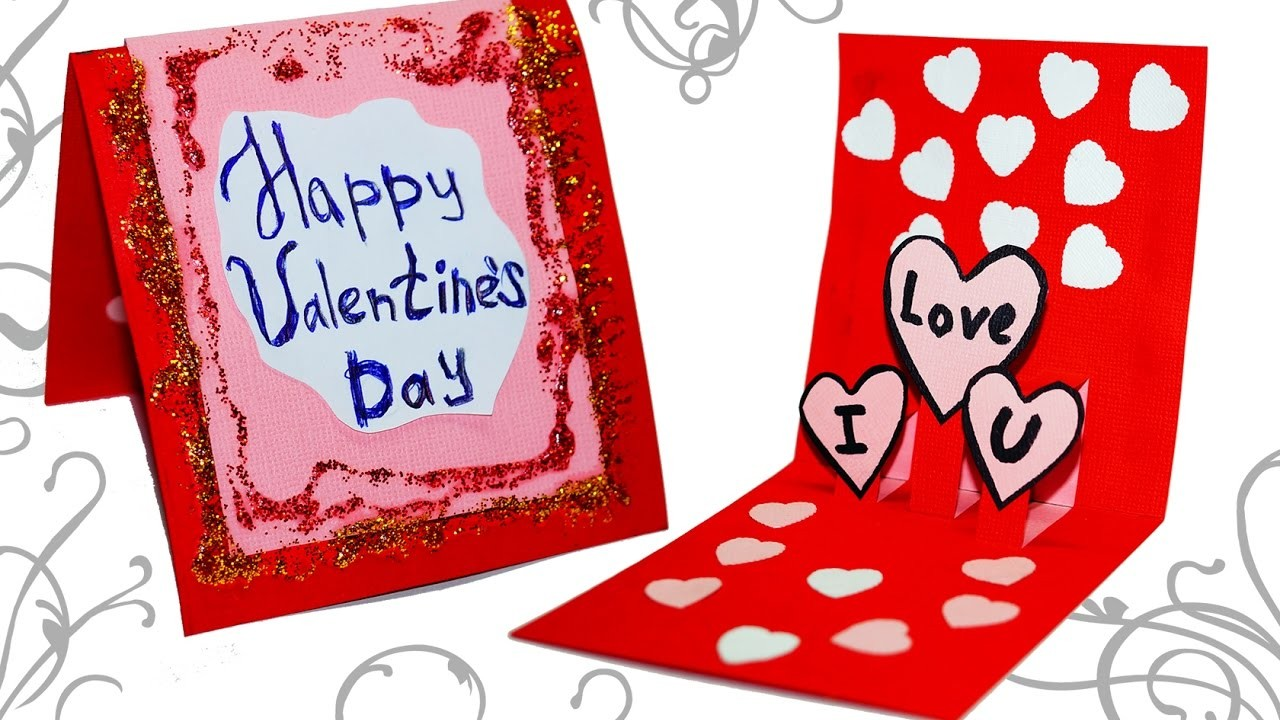 Diy Paper Crafts Easy Greeting Card Making Ideas For Valentines Day