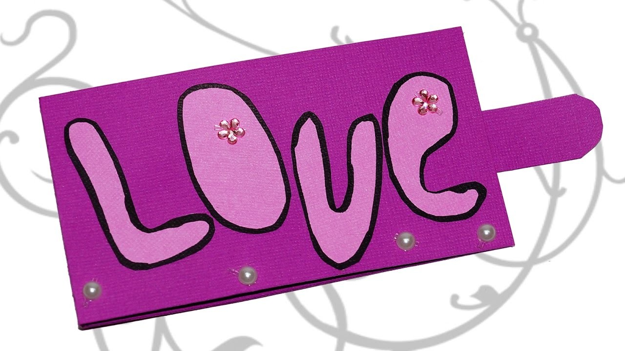 DIY paper crafts - Love card. Greeting card for Valentine day. Pop up card tutorial easy. Julia DIY