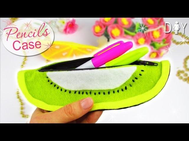 DIY PENCILS CASE | FELT FRUIT CASE