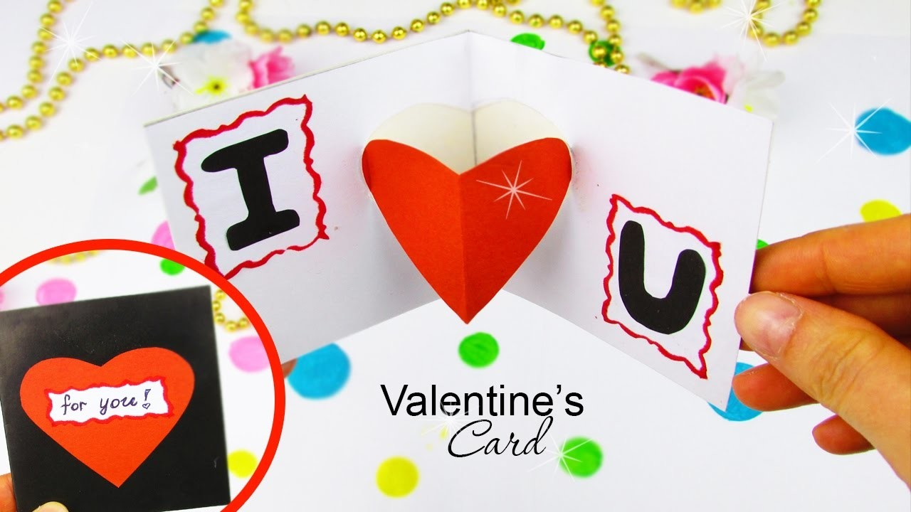 Diy Pop Up Card In A 5 Min For Valentines Day