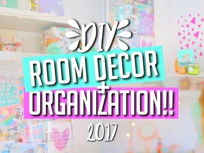 DIY Room Decor + Organization for 2017!! || Makeupgirl21