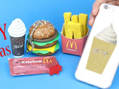 DIY School Supplies - 5 McDonald's DIYs (Slime Phone Case, Mini Notebook, Pencil,   Pen & Eraser. )