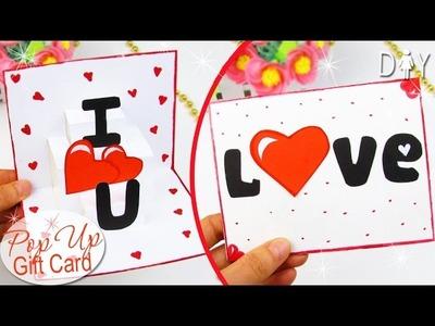 DIY VALENTINE'S DAY  POP UP CARD