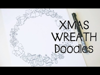 Doodle with Me : Christmas Wreath