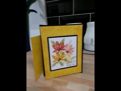Double fun fold card using Avant garden SU
