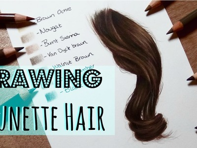 Drawing Tutorial: Realistic Brunette. Brown Hair In Coloured Pencil