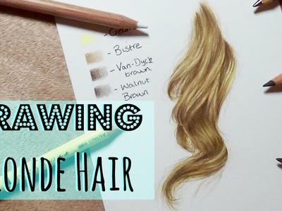 Drawing Tutorial: Realistic Blonde Hair In Coloured Pencil