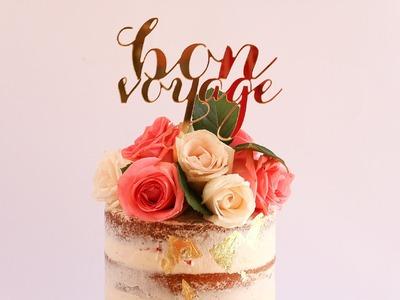 Elegant Naked Cake With Roses Tutorial- Rosie's Dessert Spot