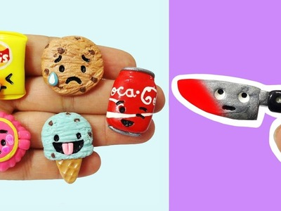 EXPERIMENT GLOWING 1000 DEGREE KNIFE VS EMOJI SNACKS! Polymer Clay Tutorial