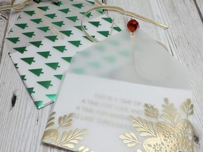 Fancy vellum envelope gift tags
