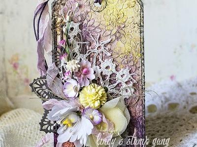 Floral Tag Video Tutorial by Evgeniya Zakharova