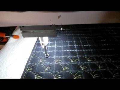 #FMQ101 ( Video #3- Clam Shells) Longarm Free Motion Quilting Video