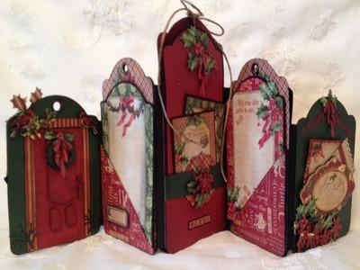 G45 The Twelve Days of Christmas tag mini album. photo display -  Blog base tutorial Tag series 3