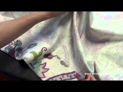 Hand Sewn Drapery Hem How-To