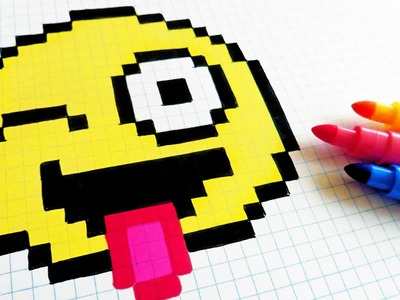 Handmade Pixel Art - How To Draw Emoji #pixelart