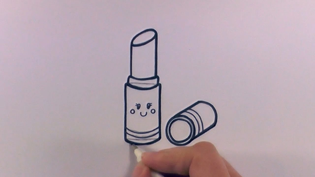 How to Draw a Cartoon Lipstick