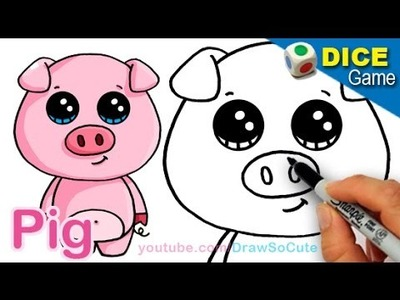 How to Draw a Cartoon Pig Cute and Easy step by step