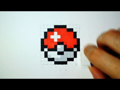 How to draw a Pokeball - Easy Pixel Art