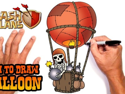 How to Draw Balloon | Clash of Clans