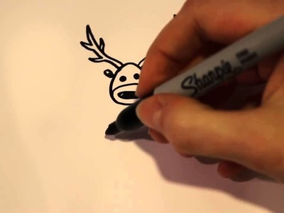 How to Draw Christmas Stuff - How to Draw a Reindeer (Cute and Easy)