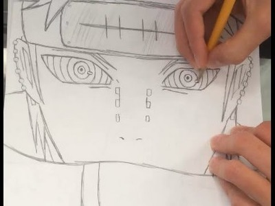 How to Draw Pain From Naruto Shippuden - HTD