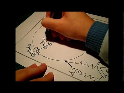 How to draw: Santa Claus  coming to town. !