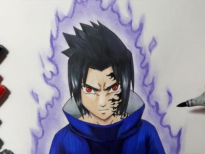 How To Draw Sasuke Uchiha - Step by Step