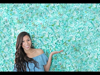HOW TO MAKE A FLOWER WALL IN 2 MINUTES!  - Where to buy flowers!