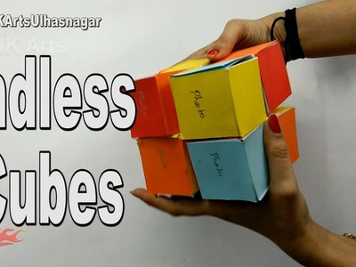 How To Make an Endless Cubes for Valentine's Day |  JK Arts 1159