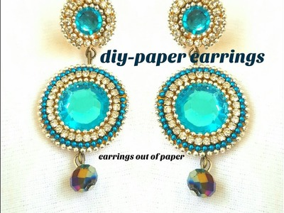 How to make paper earrings||Party wear earrings||made out of paper