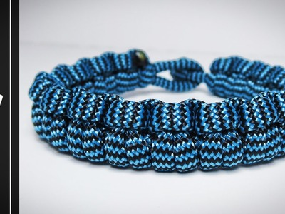 How to make The Icicle Paracord Survival Bracelet [WITHOUT BUCKLE.NO BUCKLE NEEDED] [UWA ORIGINAL]