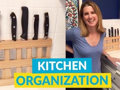 Kitchen DIY Ideas - Knife Rack & Spice Rack!