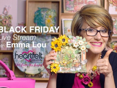 Live with Emma Lou ~Techniques with the Foldout Cards and Dies and Handbag