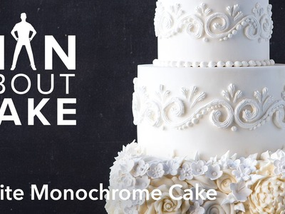 (man about) White Monochrome Cake | Man About Cake