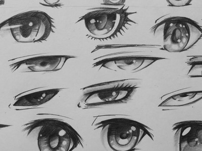 Manga Eyes Sketching - 29 Different Forms