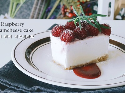 [NO BAKE] Raspberry Creamcheese Cake~* : Cho's daily cook