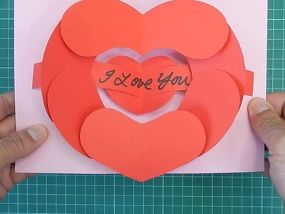 Open Your Heart Pop Up Card - Tutorial