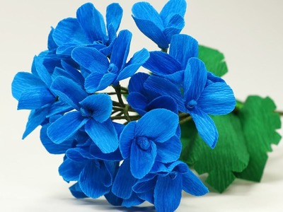 Paper Flower: DIY Paper Hydrangea Flower Bouquet Making Tutorial
