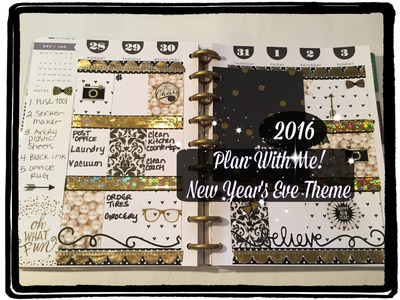 Plan With Me! The Happy Planner | New Year's Eve Theme!