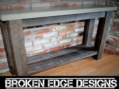 Reclaimed Wood Entryway table