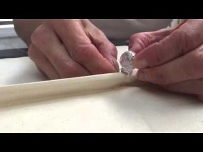 Sewing a breakaway device (orb) to a rod pocket