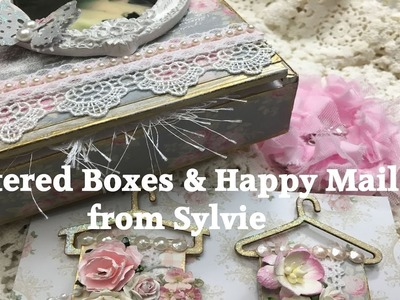 Shabby Chic Vintage Altered Box and Happy Mail from Sylvie