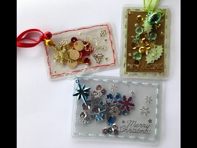 Shaker Gift Card Holder and Tag Tutorial not using Fuse Tool or not using special pouches or sleeves