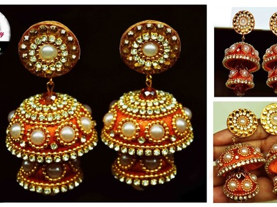Silk thread Earring | Bridal Jhumka | Art with Creativity 128