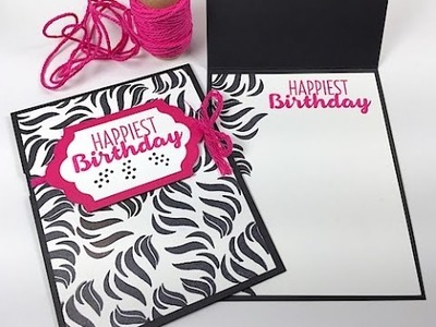 Simply Simple OUT OF THE BOX Zebra Print Birthday Card by Connie Stewart