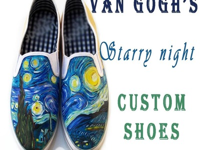 Starry Night Custom Shoes Time lapse