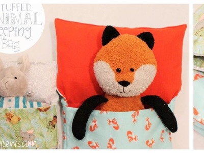 Stuffed Animal and Doll Sleeping Bag | Easy How to | Whitney Sews | Beginner Friendly