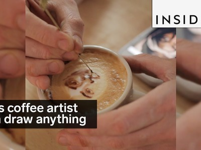 This coffee artist can draw anything in your latte
