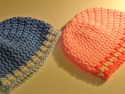 Adorable Crocheted Baby Hat (Free Pattern)